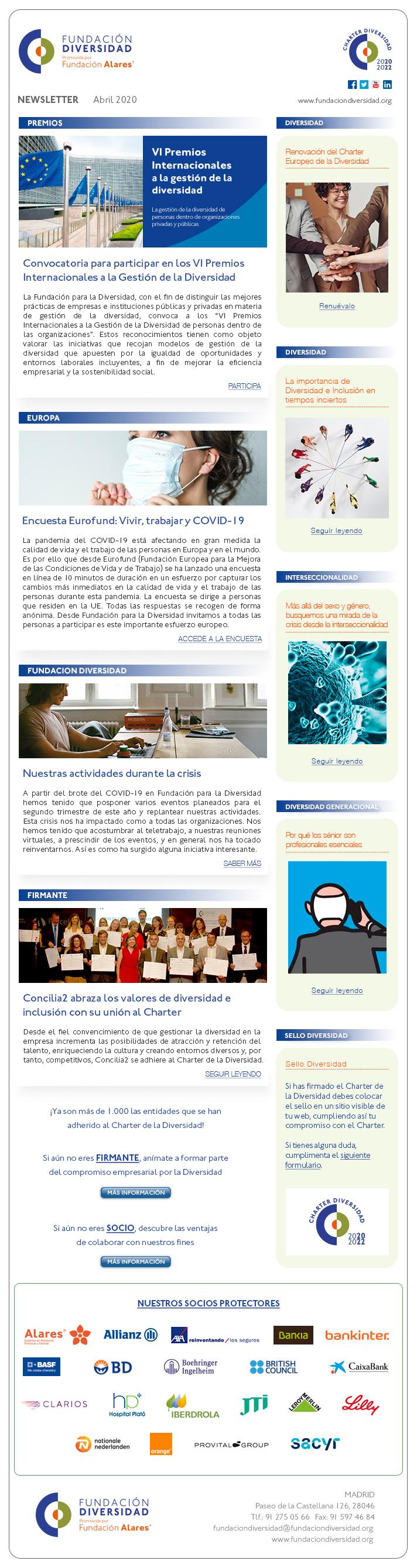 Newsletter Abril 2020 | Fundación Diversidad
