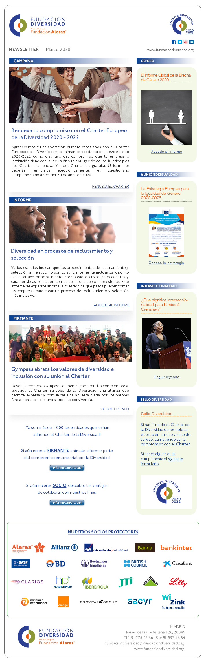 Newsletter Marzo 2020