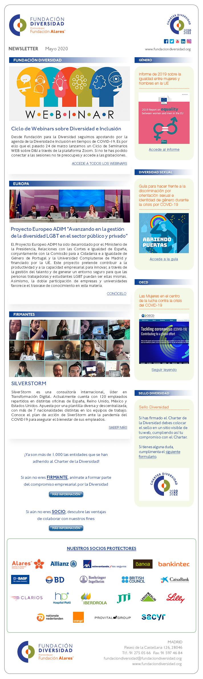 Newsletter Mayo 2020 | Fundación Diversidad