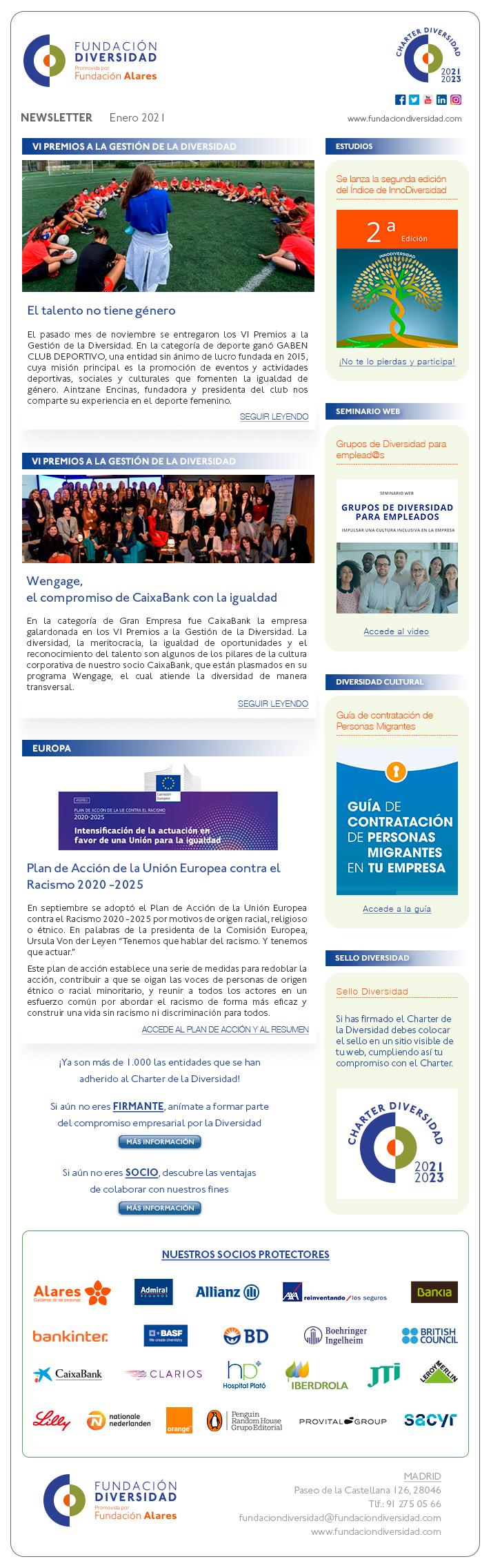 Newsletter Enero 2021 | Fundación Diversidad