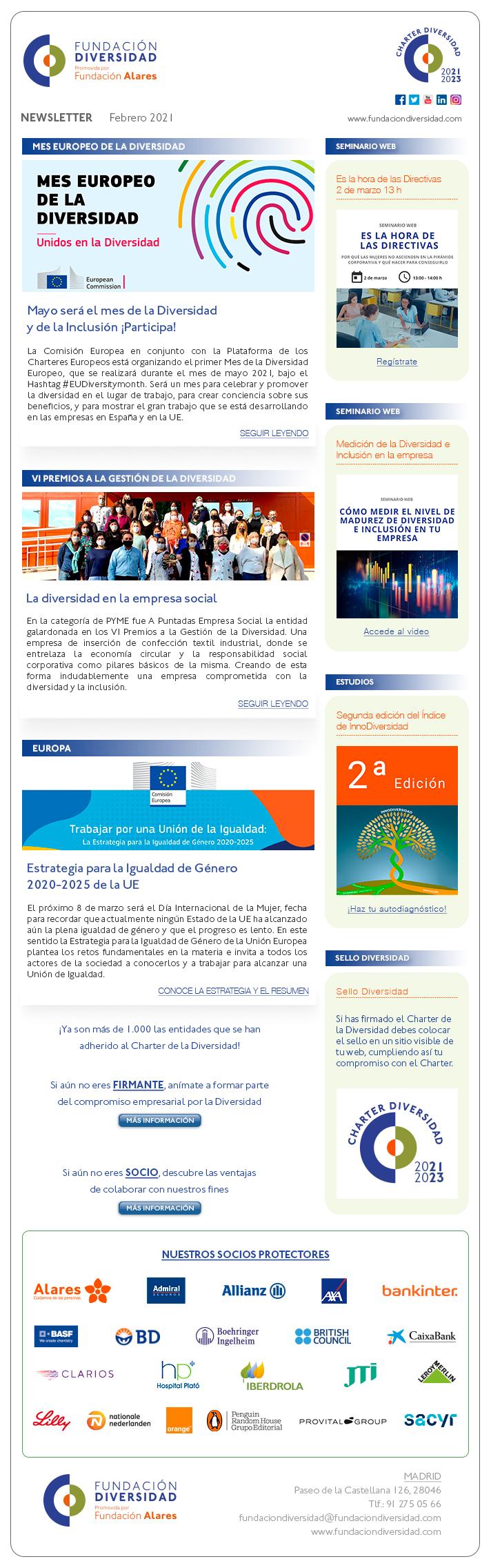 Newsletter Febrero 2021 | Fundación Diversidad