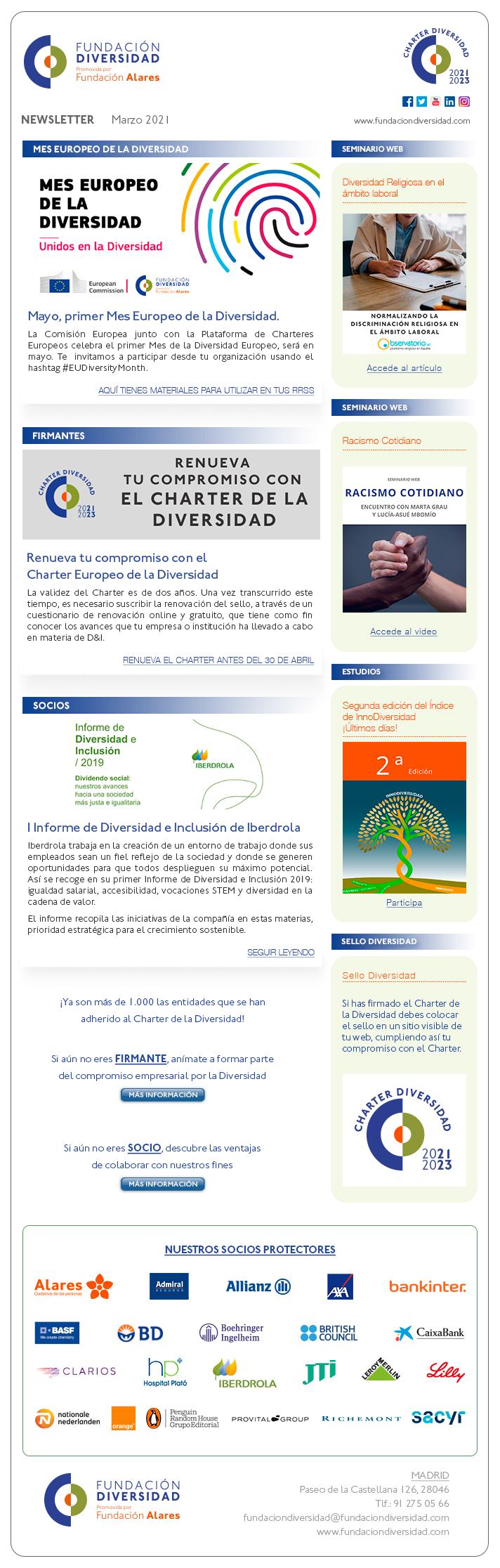 Newsletter Marzo 2021 | Fundación Diversidad