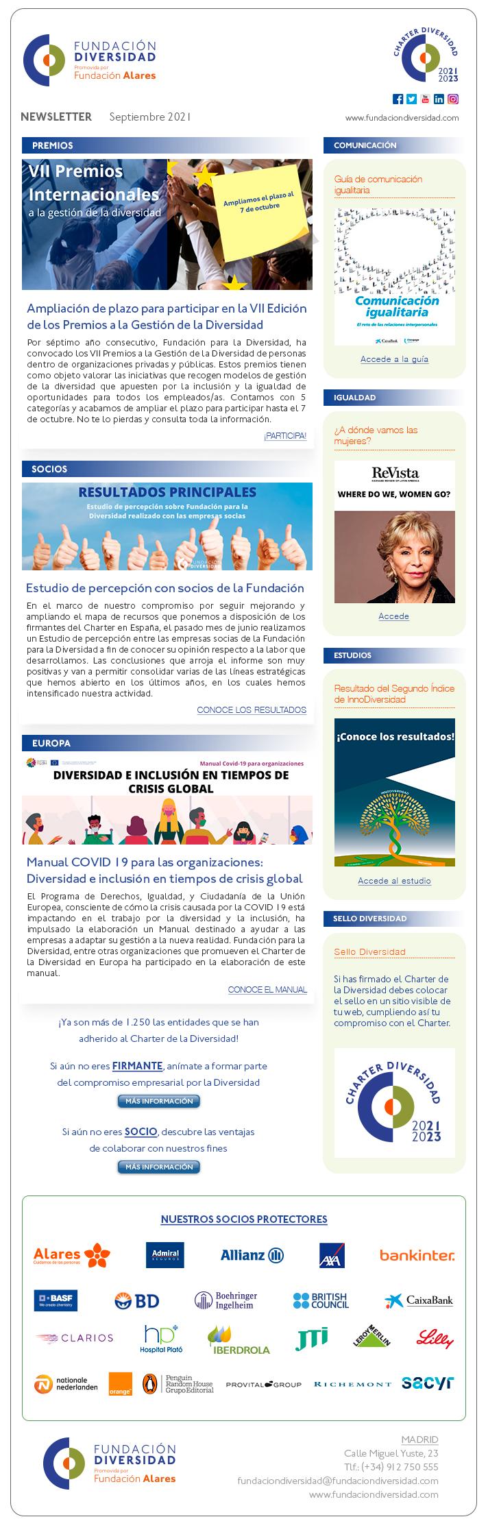 Newsletter Septiembre 2021   Fundación Diversidad